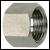 6-kant-Überwurfmutter, Tüllengröße, ES 1.4571
