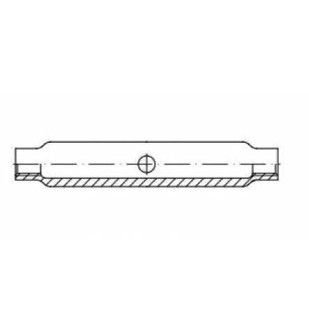 DIN 1478 Spannschloßmuttern aus Stahlrohr, geschlossene Form, ohne Zubehör