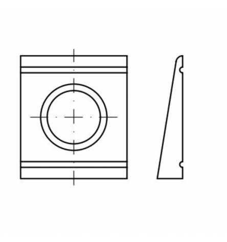 DIN 6918 Scheiben Vierkant, keilförmig 8%, für HV-Verbindung