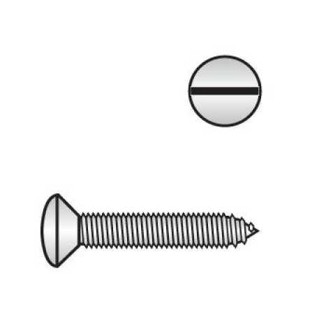 DIN 7973 Linsensenkkopf-Blechschrauben mit Schlitz
