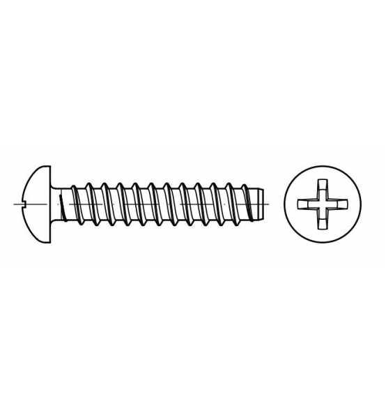25 Stück Blechschrauben DIN 7981 Linsenkopf A2 4,2X16