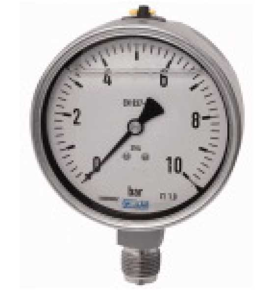 Glyzerinmanometer, CrNi-Stahl, unten, Bild 366661 Klein