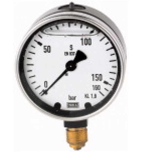 Glyzerinmanometer, Metallgehäuse, unten, Bild 365409 Klein