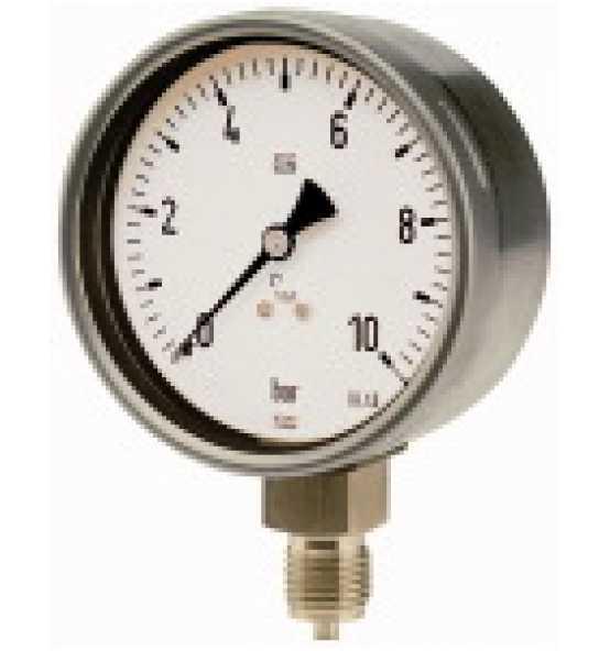 Manometer, CrNi-Stahl, G 1/2 radial unten, Ø 100, Bild 365960 Klein