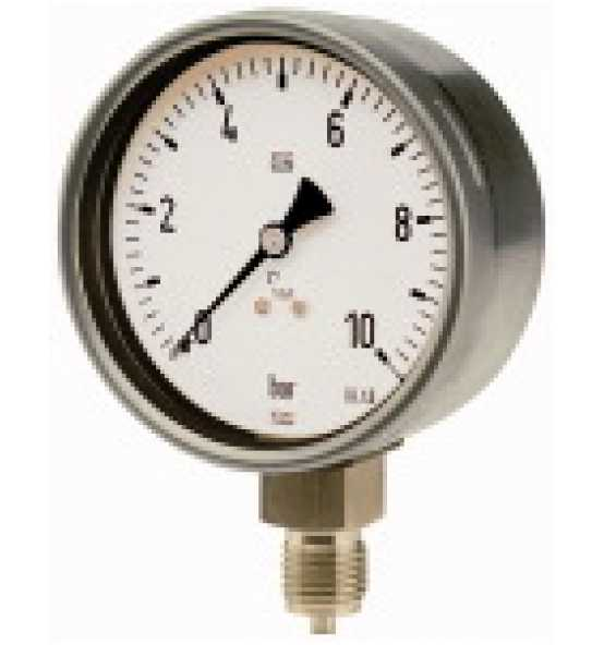Manometer, CrNi-Stahl, G 1/2 radial unten, Ø 160, Bild 365960 Klein
