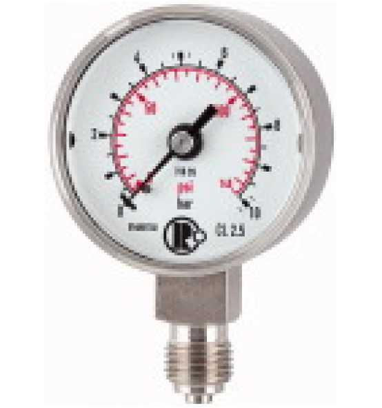 Standardmanometer, CrNi-Stahl, G 1/4 unten, Ø 50, Bild 365998 Klein