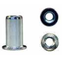 Blindnietmutter M4, Stahl, Flachkopf, gerändelt; 0,5 - 2,0mm Klein