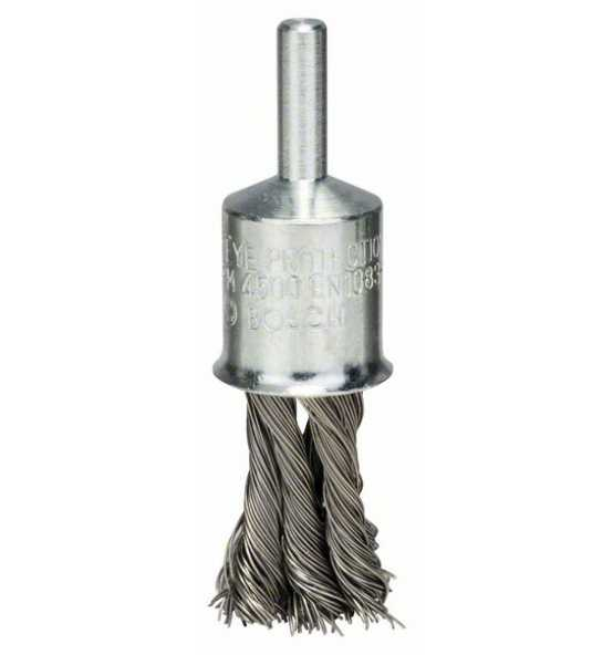 Pinselbürste gezopft VA Draht Durchmesser 19mm Schaft 6mm