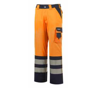 54 Funsport Warnbundhose Nizza orange-grau Gr