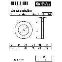 DIN 1052 Scheiben 14, für Holzverbindungen, stark, rund, A2 blank Klein