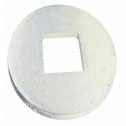 DIN 440 Scheiben 6,6 x 22 x 2, für Holzkonstruktionen, Form V, Vierkantloch, Stahl galv. verzinkt farblos Klein