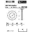 DIN 7349 Scheiben 31 x 69 x 10, für Schrauben mit schweren Spannstiften, A4 blank Klein