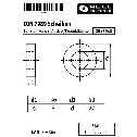 DIN 7989 Scheiben 30 x 50 x 8, für Stahlkonstruktionen, Stahl feuerverzinkt, Ausf. B/Produktklasse A Klein