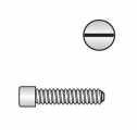 DIN 84 Zylinderschrauben mit Schlitz M 1,4 x 3, A1 blank Klein
