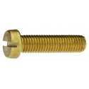 DIN 84 Zylinderschrauben mit Schlitz M 2 x 25, Messing blank Klein