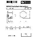 DIN 917 Sechskant-Hutmutter, niedr. Form, M 12, Stahl blank Klein