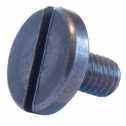 DIN 921 Flachkopfschrauben mit Schlitz, M 4 x 12, großer Kopf, A1 blank Klein