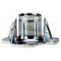 Einschlagmuttern M 6, Stahl galv. verzinkt farblos Klein