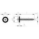 Fensterbankschrauben 3,9x32, mit Polyamidscheibe natur, Bohrspitze, Blechgewinde grob, TORX®, A2 blank Klein