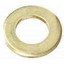 ISO 7089 Scheiben 2,6 (2,8x7x0,5), Form A flach ohne Fase, Messing blank Klein