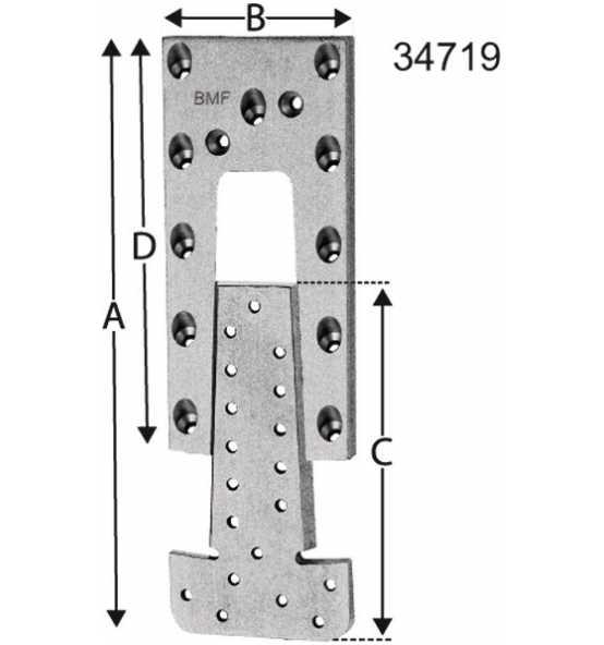 Passverbinder ETB 75 x 195, Bild 26194 Detail